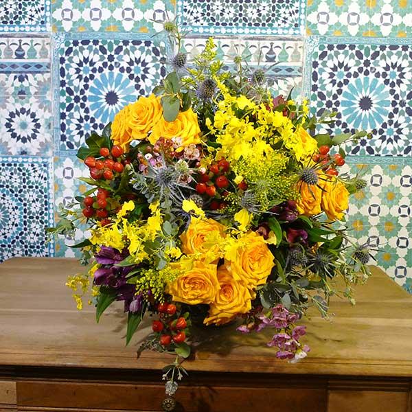 Bouquet fleur jaune chic et choc artisan fleuriste l for Bouquet de fleurs jaunes