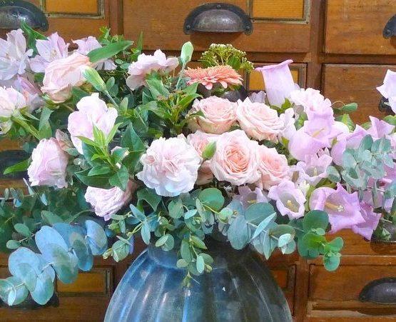 bouquet de fleurs asymétrique