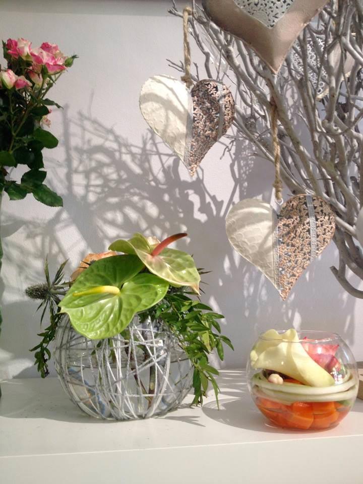 fleurs composition chic et choc