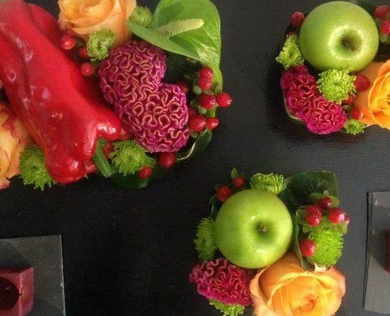 fleurs, fruits et légumes